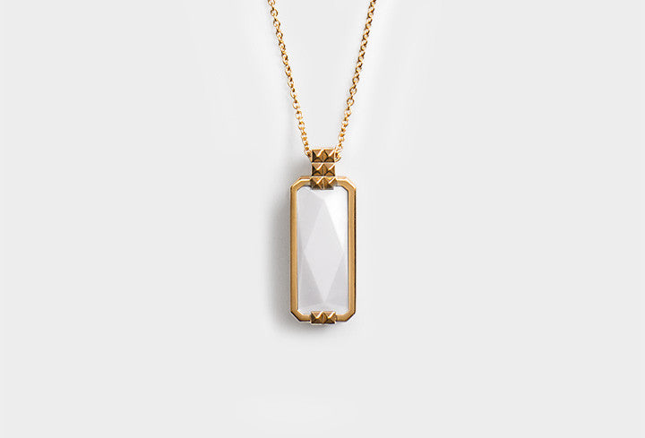 ALTRUIS gold & white necklace