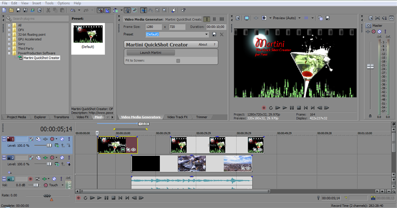 Martini Sequence in Sony Vegas Pro