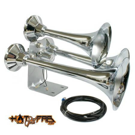 Air Horn Triple Trumpet - Hot Spot Fab
