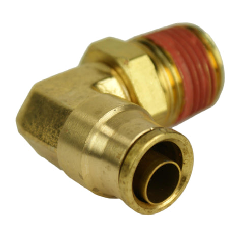 "3/8"" Hose 3/8"" NPT 90 Deg Push-to-Connect - Hot Spot Fab"