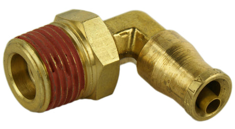 "1/4"" Hose 3/8"" NPT 90 Deg Push-to-Connect - Hot Spot Fab"