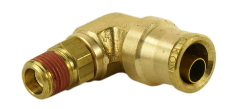 "3/8"" Hose 1/4"" NPT 90 Deg Push-to-Connect - Hot Spot Fab"