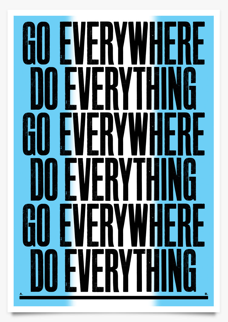 EVERYTHING - Art Print by Anthony Burrill | Another Fine Mess