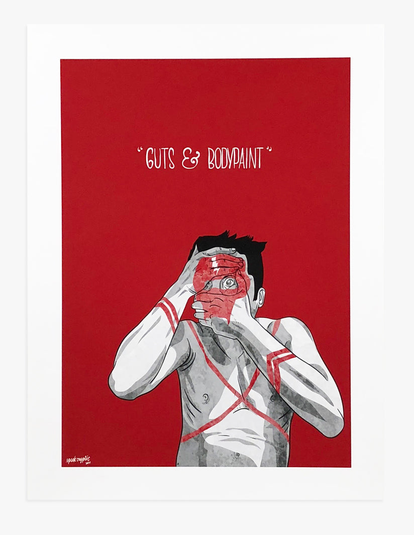Guts and Bodypaint - Art Print by Speak Cryptic | Another Fine Mess