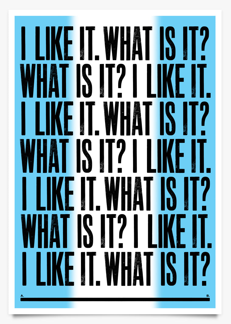 LIKE - Art Print by Anthony Burrill | Another Fine Mess