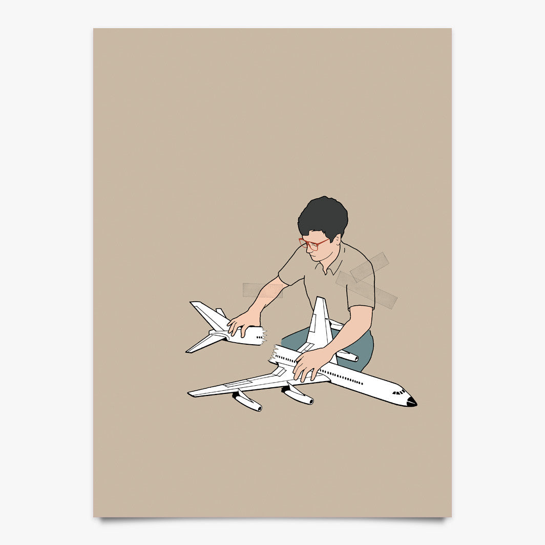 Paper Airplane II - Art Print by Justin Cooper | Another Fine Mess