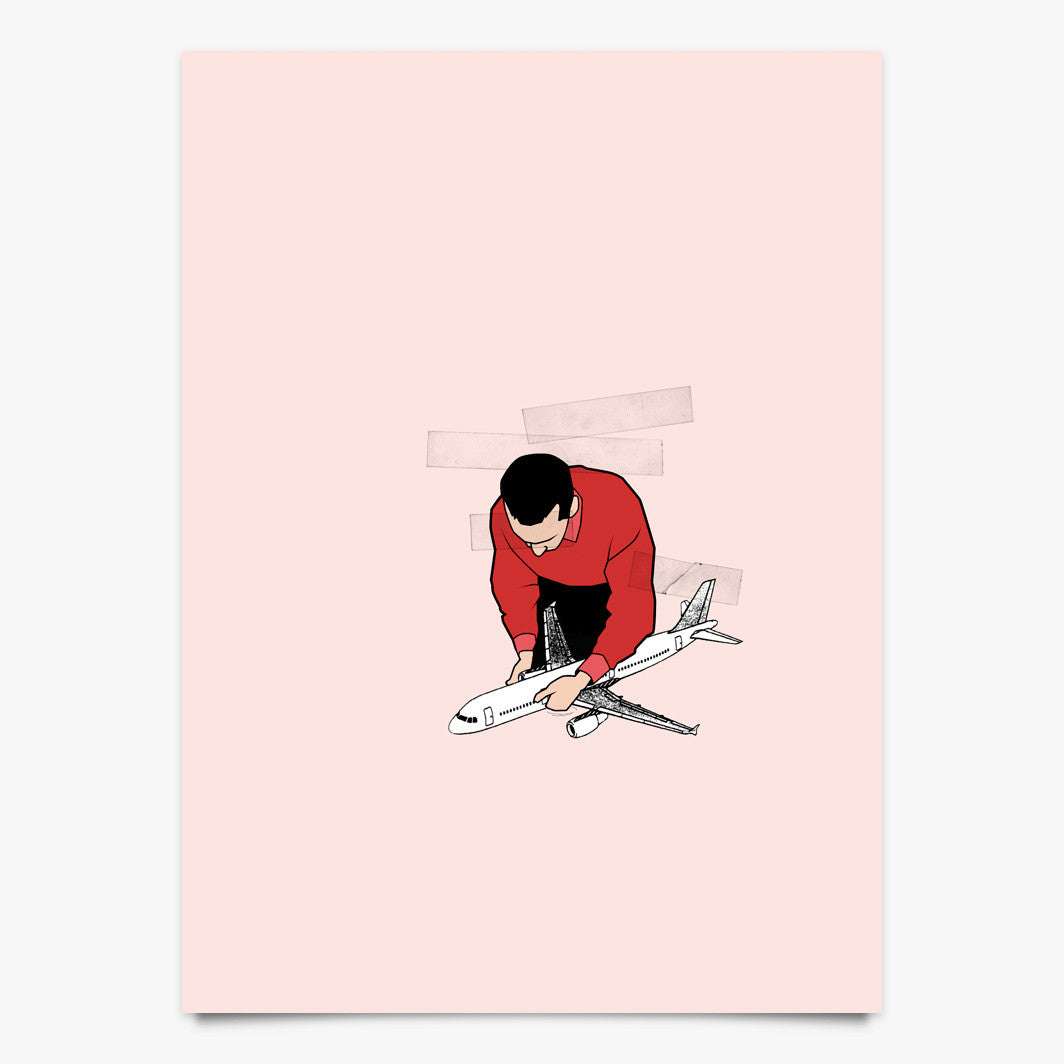 Paper Airplane - Art Print by Justin Cooper | Another Fine Mess