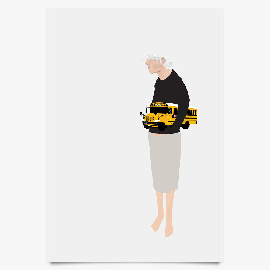 Paper Bus - Art Print by Justin Cooper | Another Fine Mess