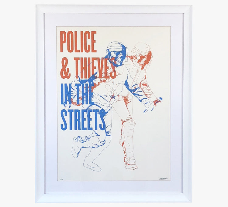 Police and Thieves - Art Print by Max-o-matic | Another Fine Mess