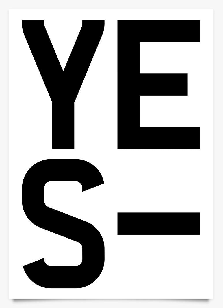 Word Power - YES - Art Print by Michael C Place | Another Fine Mess