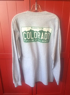 Colorado License Plate Long Sleeve Shirt