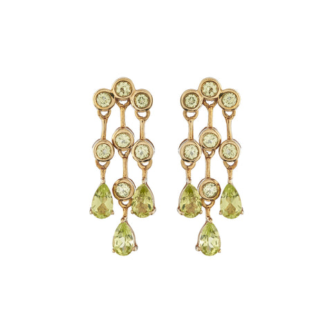 Peridot mini chandelier earrings