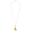 Gold mussel pendant and chain