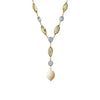 Blue topaz, peridot and pearl necklace