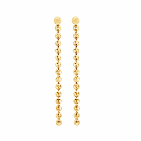Moondust gold vermeil earrings