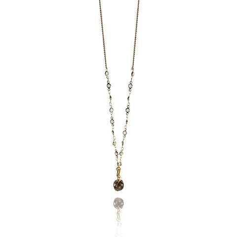 Olivia necklace - white quartz