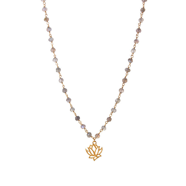 Lotus rosary necklace