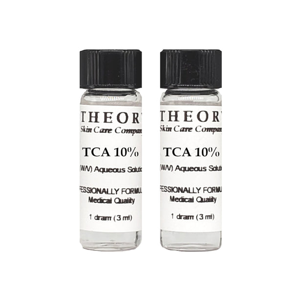 Trichloroacetic Acid, 2- 1 DRAM size10% Peel Solution, Wrinkles, Anti Aging, Age Spots