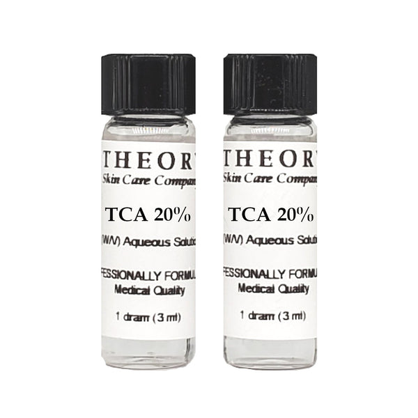 Trichloroacetic Acid, 2- 1 DRAM 20% Peel Solution, Wrinkles, Anti Aging, Age Spots