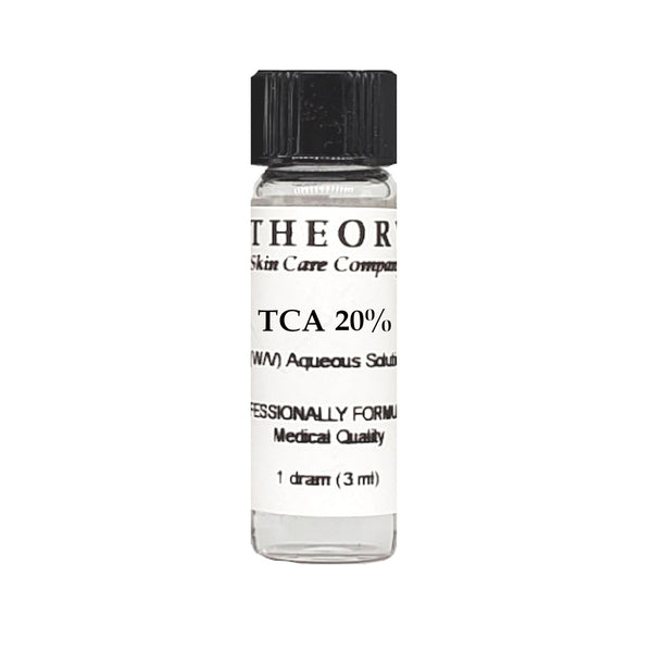 Trichloroacetic Acid, 1 DRAM size 20% Peel Solution, Wrinkles, Anti Aging, Age Spots