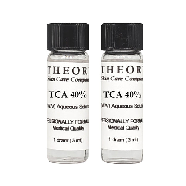Trichloroacetic Acid, 2-1 DRAM size 40% Peel Solution, Wrinkles, Anti Aging, Age Spots
