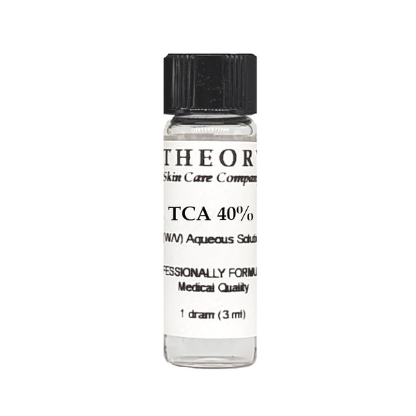 Trichloroacetic Acid, 1 DRAM size 40% Peel Solution, Wrinkles, Anti Aging, Age Spots
