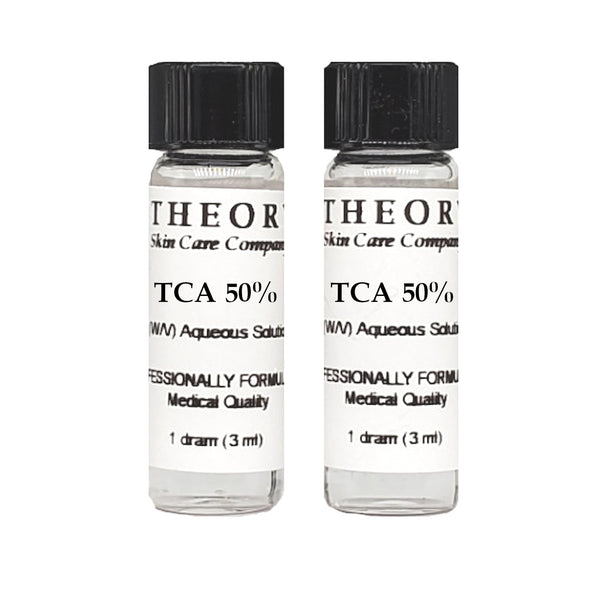 Trichloroacetic Acid, 2-1 DRAM size 50% Peel Solution, Wrinkles, Anti Aging, Age Spots