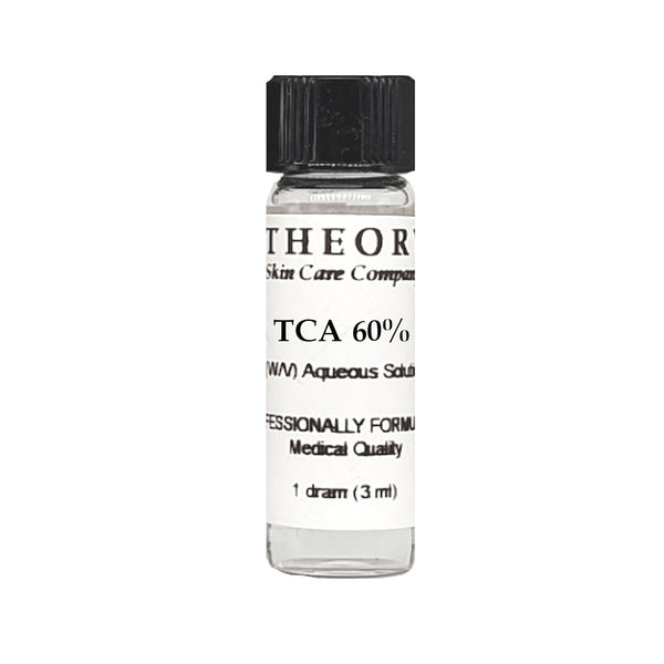 Trichloroacetic Acid, 1 DRAM size 60% Peel Solution, Wrinkles, Anti Aging, Age Spots