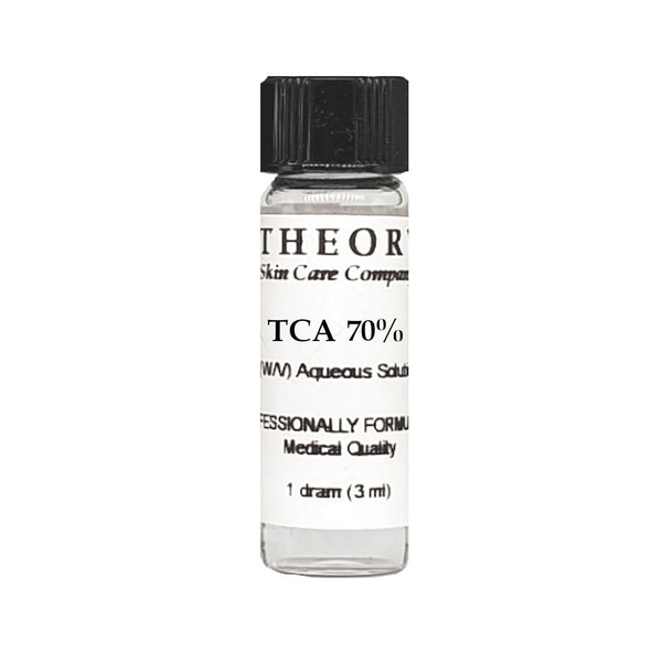 Trichloroacetic Acid, 1 DRAM size 70% Peel Solution, Wrinkles, Anti Aging, Age Spots