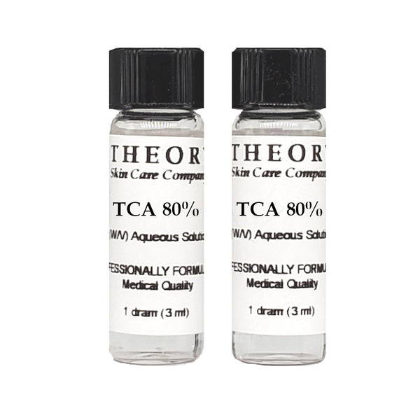 Trichloroacetic Acid, 2-1 DRAM size 80% Peel Solution, Wrinkles, Anti Aging, Age Spots