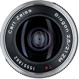 Zeiss Super Wide Angle 21mm f/2.8 Biogon T* ZM Manual Focus Lens for Zeiss Ikon and Leica M Mount Rangefinder Cameras - Black