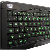 Adesso SlimTouch 120 3-Color Illuminated Compact Multimedia Keyboard
