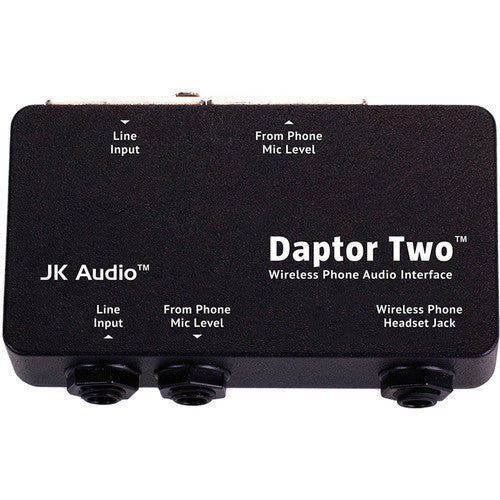 JK Audio DAPTOR 2 Wireless Phone Audio Interface Connects to Cellphone  Headset Output to Send and Receive Audio from Mixer or Recorder
