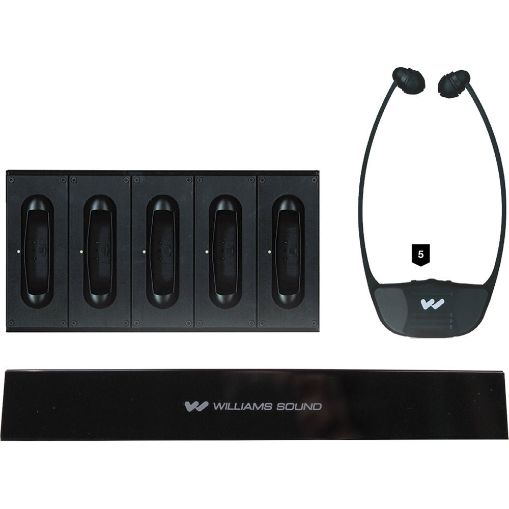Williams Sound IR SY4 SoundPlus Medium-Area Wireless Infrared System with 5 Stethoset Receivers