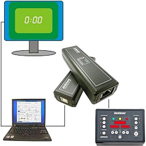 DSAN Corp. RJ-45 to Cat-5 Adapter with Software to Display Limitimer Time on Large LCD Monitors