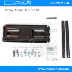 "Tanotis - Tanotis Imported Swivel Tilt Heavy Duty Dual Arm Full Motion TV Wall mount for LCD/LED Plasma TV's upto 32"" to 55"" inch for Flat Wall or Corner mounting with VESA upto 400 MM x 400 MM - 2"
