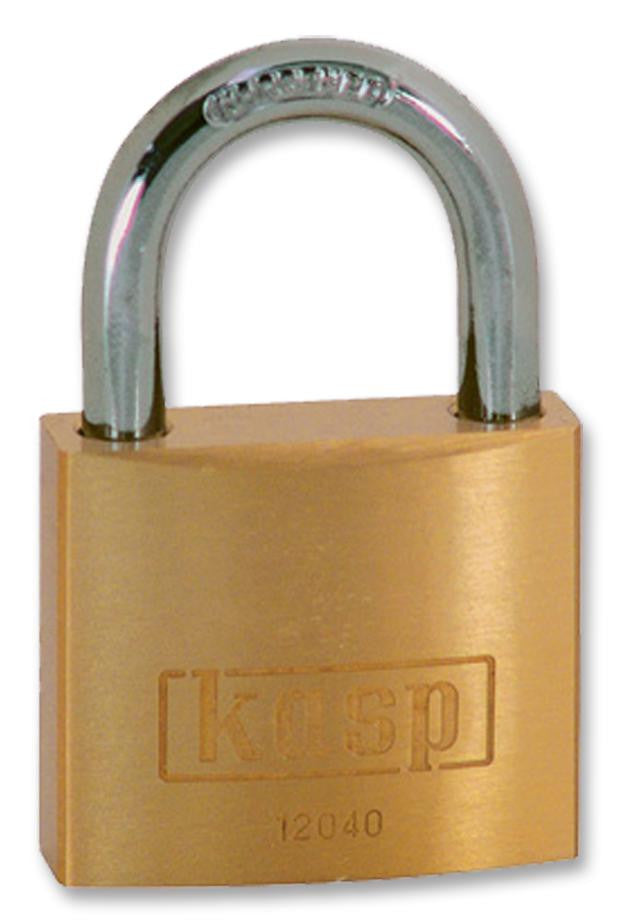 KASP SECURITY K12040 40mm Premium Brass Padlock with Hardened Steel Shackle  for Maximum Corrosion Resistance