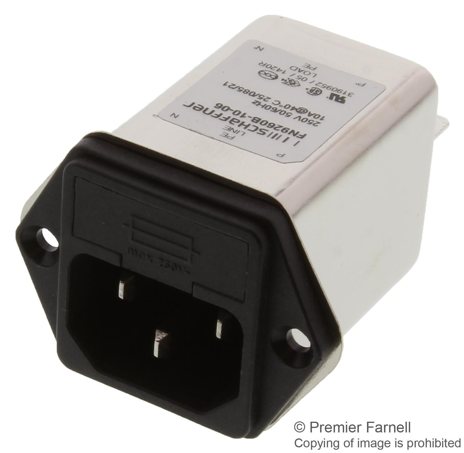 Heavy-Duty Han Series Receptacle Heavy Duty Connector Pin 25 Contacts 3 Rows, Cable Mount Pack of 2 09210253101