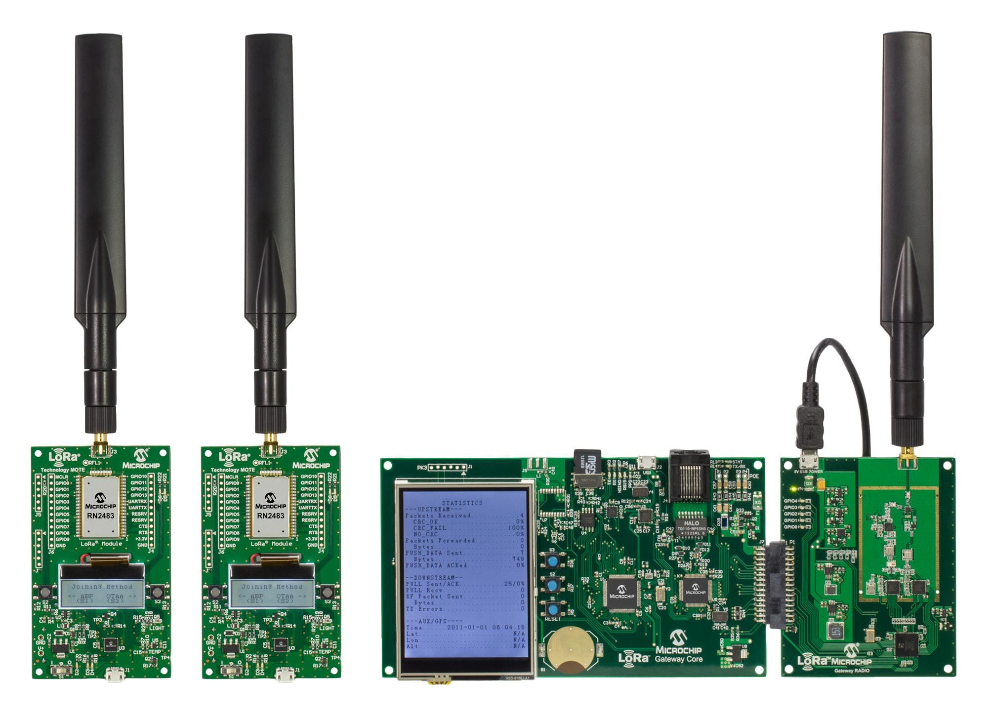MICROCHIP DV164140-1 LoRa Network Evaluation Kit, Networking, 868MHz, Full  Band Capture Radios, RN2483