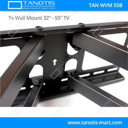 "Tanotis - Tanotis Imported Swivel Tilt Heavy Duty Dual Arm Full Motion TV Wall mount for LCD/LED Plasma TV's upto 32"" to 55"" inch for Flat Wall or Corner mounting with VESA upto 400 MM x 400 MM - 3"