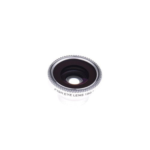 Tanotis - Neewer A-8002 - Universal 180 Degree Fish Eye Lens for mobile phone and digital camera, color silver
