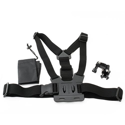 Tanotis - NEEWER Adjustable Chest Belt/Strap Harness Mount Kit with J-Hook for Gopro Hero 4 3+ 3 2 1 Cameras