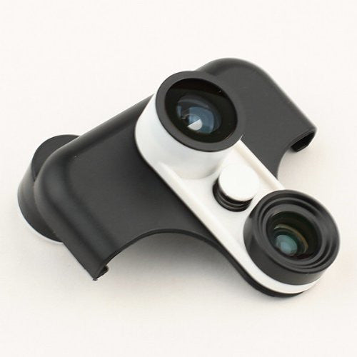 Tanotis - Neewer 4 in 1 front Fisheye lens + Back Fisheye lens + Wide Angle + Macro lens for Samsung Galaxy Note II N7100