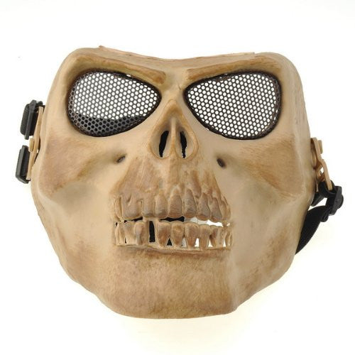Tanotis - NEEWER Airsoft Cacique Skull D.Earth Full Mask For War Game Paintball Hunting