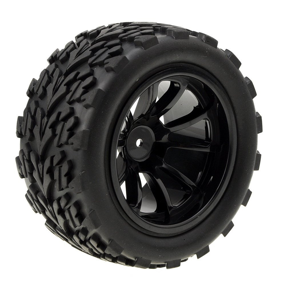 Tanotis - NEEWER 1:10 Scale Replacement Rubber Tires for R/C Off-Road Car / Truck - Black (2 PCS)