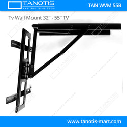 "Tanotis - Tanotis Imported Swivel Tilt Heavy Duty Dual Arm Full Motion TV Wall mount for LCD/LED Plasma TV's upto 32"" to 55"" inch for Flat Wall or Corner mounting with VESA upto 400 MM x 400 MM - 7"