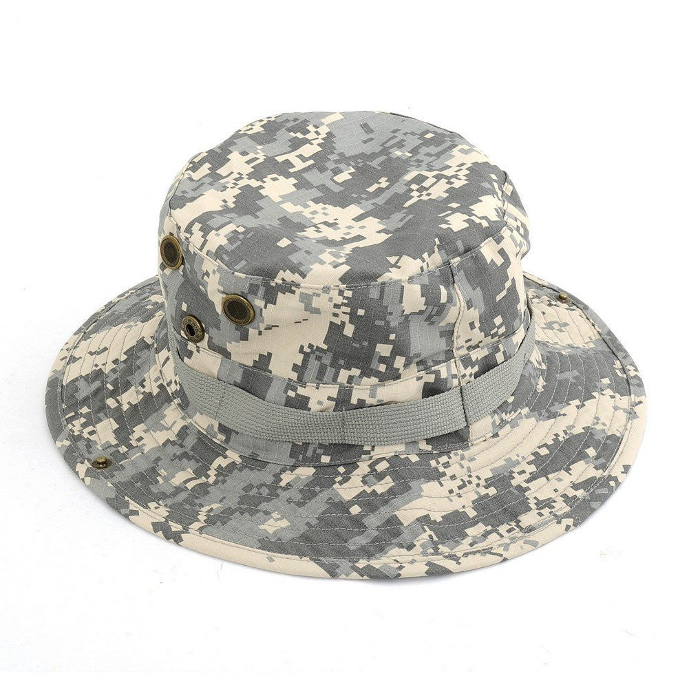 Tanotis - NEEWER Fishing Hiking Boating ACU Army Military Camo Bucket Outdoor Hat Jungle Cap (Size S)
