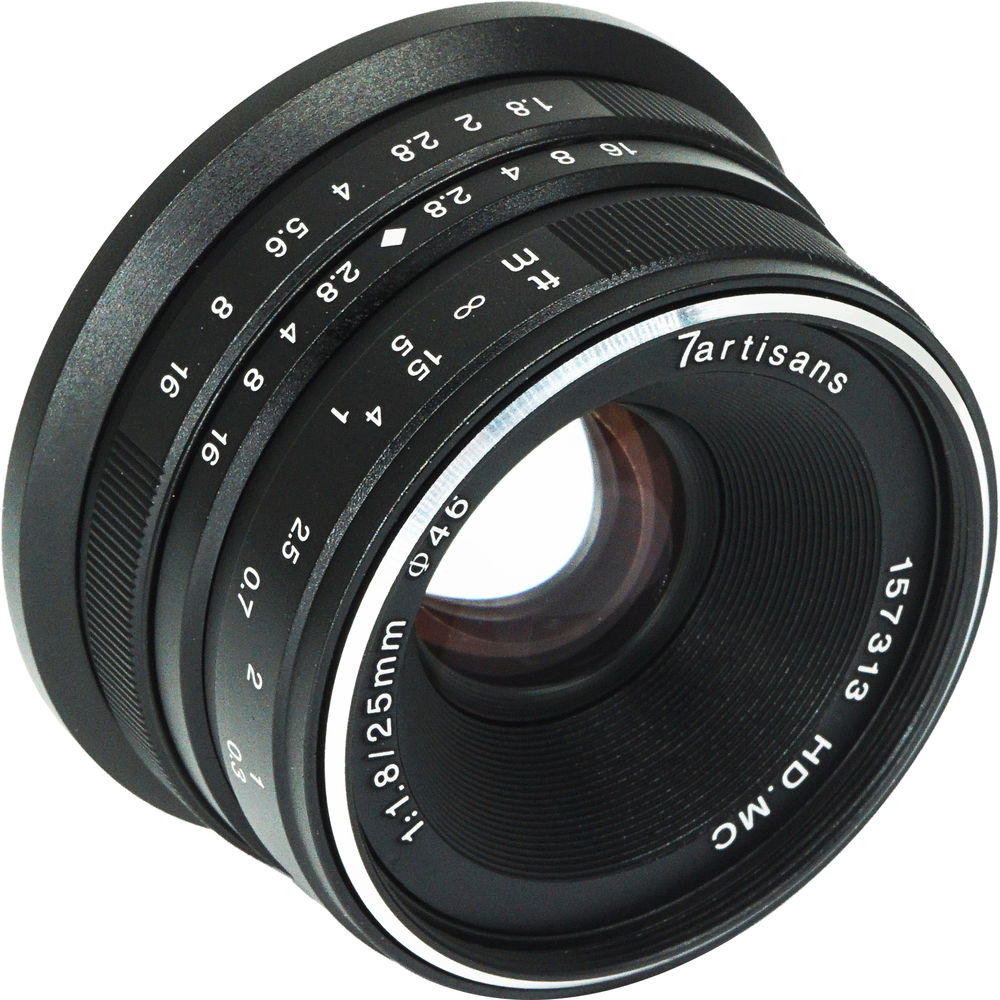 7artisans Photoelectric 25mm f/1.8 Lens for Micro Four Thirds Cameras (Black)