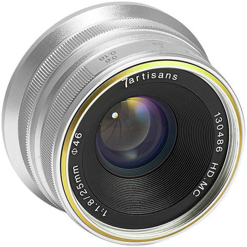 7artisans Photoelectric 25mm f/1.8 Lens for Sony E-Mount Cameras (Silver)