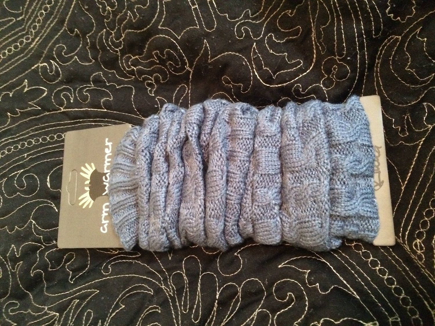 Tanotis - Women Slouch Cable Knit Arm Warmers Fingerless Gloves Winter Fashion
